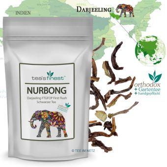 Schwarzer Tee Darjeeling Nurbong FTGFOP First Flush 100 Gramm