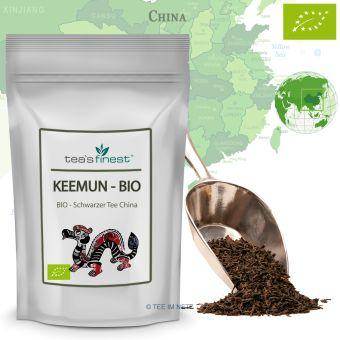 Schwarzer Tee Keemun - BIO 1000 Gramm