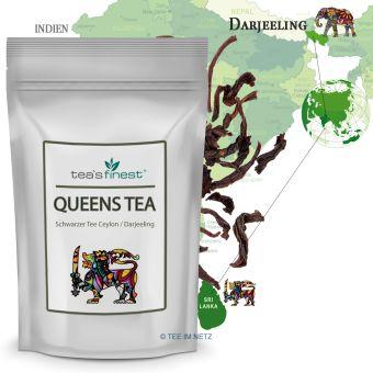 Schwarzer Tee Queens Tea (Ceylon-/Darjeeling Blatt) 100 Gramm