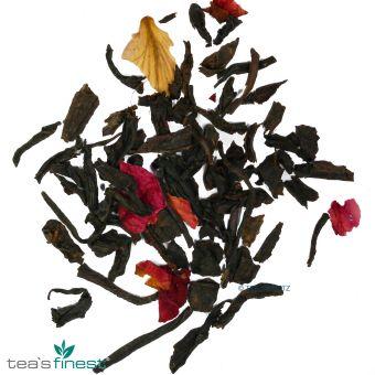 Schwarzer Tee Rosentee mit Blüten 100 Gramm