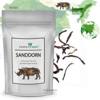 Schwarzer Tee Sanddorn