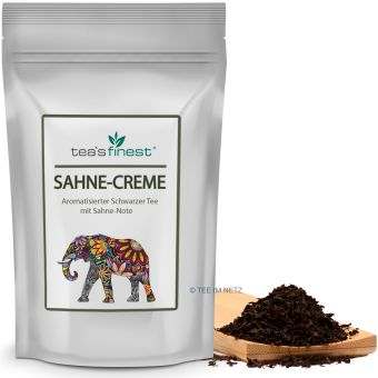 Schwarzer Tee Sahne-Creme