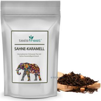 Schwarzer Tee Sahne- Karamell 100 Gramm