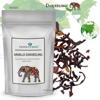 Schwarzer Tee Vanille-Darjeeling 250 Gramm
