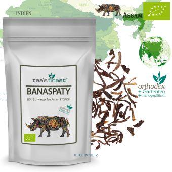 Schwarzer Tee Assam Banaspaty FTGFOP1 - BIO 100 Gramm