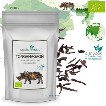 Schwarzer Tee Assam Tonganagaon FTGFOPI - BIO 500 Gramm
