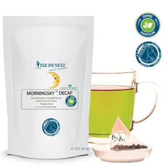 Grüner Tee Morningsky® Decaf (entkoff.) 15x2.1g Pyra-Beutel