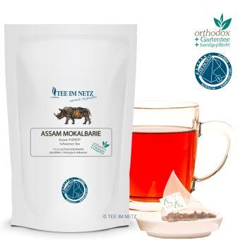 Schwarzer Tee Assam Mokalbarie TGFBOP 15x2.1g Pyra-Beutel