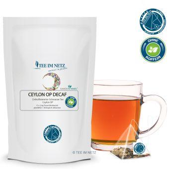 Schwarzer Tee Ceylon OP Decaf (entkoff.) 15x2.4g Pyra-Beutel