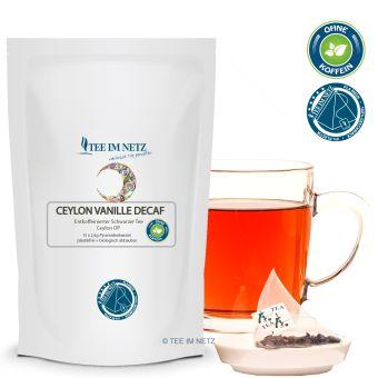 Schwarzer Tee Ceylon Vanille Decaf (entkoff.) 15x2.4g Pyra-Beutel