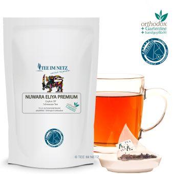 Schwarzer Tee Nuwara Eliya Ceylon OP Premium 15x2.1g Pyra-Beutel