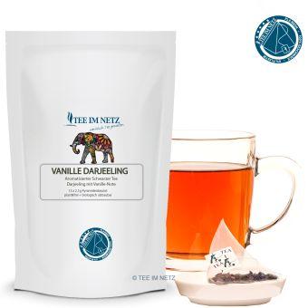 Schwarzer Tee Vanille-Darjeeling 15x2.1g Pyra-Beutel