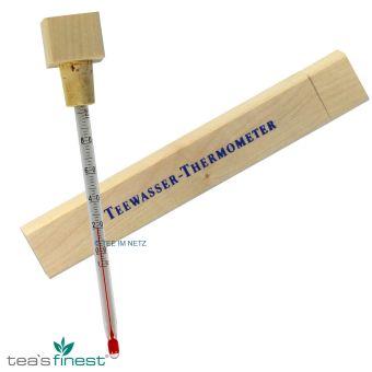 Teewasser Thermometer im Holzetui
